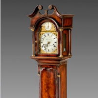 A fine late 19th Century miniature longcase clock retailed by Clerke, Royal Exchange. Thumbnail 2
