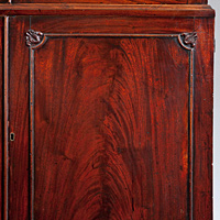 A beautifully patinated  mahogany Chippendale period 2 door bookcase. Thumbnail 3