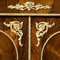 A fine early 19th Century rosewood veneered and ormolu mounted side cabinet. Thumbnail 3