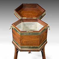 A Chippendale wine cooler. Thumbnail 3