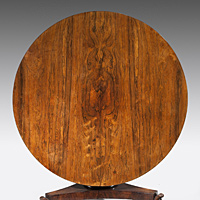 A Regency period rosewood veneered centre table. Thumbnail 3