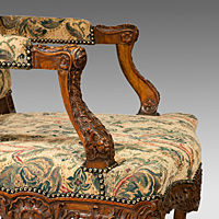 A pair of Louis XV revival carved walnut armchairs. Thumbnail 3