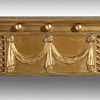 A Regency period carved giltwood overmantel mirror. Thumbnail 3