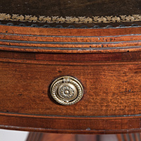 A George III period mahogany drum table. Thumbnail 3