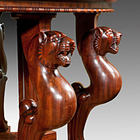 A powerful Regency period carved mahogany console table. Thumbnail 3