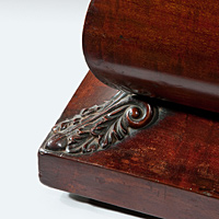 A good Regency period mahogany sarcophagus shaped wine cooler. Thumbnail 3