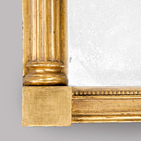 A Regency period vere eglomise pier glass mirror. Thumbnail 3