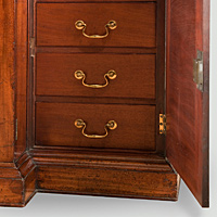 A handsome Chippendale period mahogany breakfront bookcase. Thumbnail 3