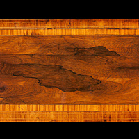 An elegant Regency period rosewood veneered card table. Thumbnail 3