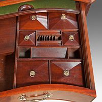 A handsome Chippendale period mahogany serpentine fronted commode. Thumbnail 3