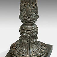 A fine pair of early Nineteenth Century bronze lamps. Thumbnail 3