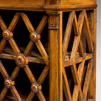 An antique French hanging bread cupboard.